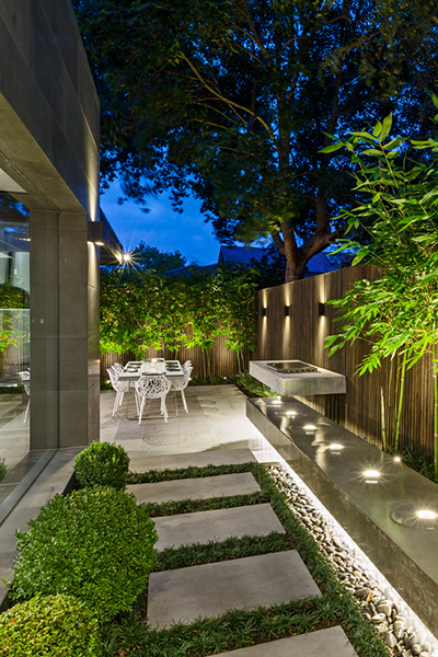Lighting Outdoor Living Spaces With Gardens At Night Melbourne East