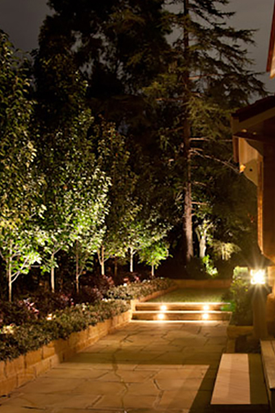 Gardens at Night Project in Focus Outdoor Lighting Roseville 1
