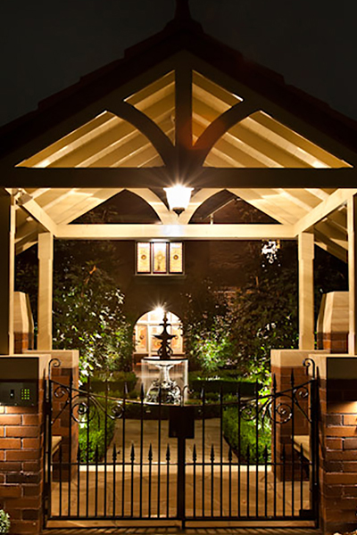 Gardens at Night Project in Focus Outdoor Lighting Roseville 5
