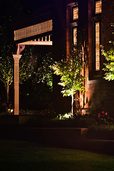 Gardens at Night Project in Focus Outdoor Lighting Roseville 7