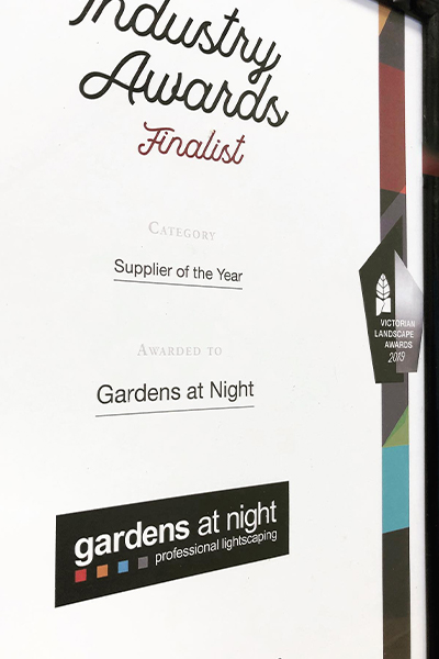 Gardens at Night outdoor lighting supplier of the year finalist 2018 2