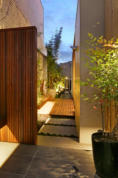 Gardens at Night_Outdoor Lighting_Project Focus_North Melbourne_1