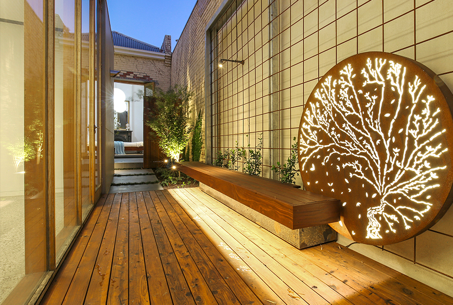 Gardens at Night_Outdoor Lighting_Project Focus_North Melbourne_5
