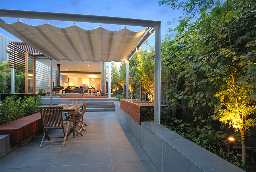 Gardens at Night_Outdoor Lighting_Project Focus_North Melbourne_6
