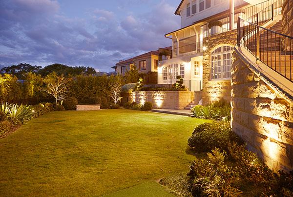 Gardens at Night Landscape Lighting accent lights inground lights Inspired Exteriors Australia