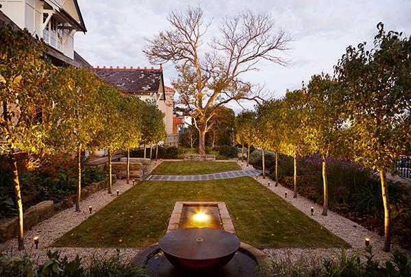 Gardens-at-Night_Accent-lighting_overhead-light_underwater-light Inspired Exteriors