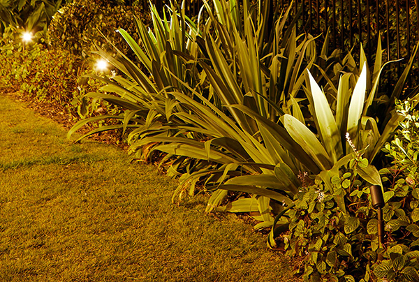 Gardens-at-night-gallery-landscape-lighting-accent-lighting-riser-accessory inspired exteriors